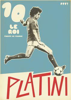 Michel Platini of France wallpaper. Art Football, Football 2018, Football Icon, Retro Football, Football Design, World Football, Vintage Football, Football Heads, Michel Platini