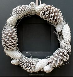 A pinecone wreath is actual not only in fall but also in winter, so let's make. A pinecone wreath Christmas Wreaths For Front Door, Holiday Wreaths, Winter Wreaths, Spring Wreaths, Summer Wreath, Handmade Christmas, Christmas Crafts, Christmas Decorations, Christmas Christmas