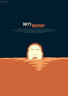 Grey's Anatomy (2005–) ~ Minimal TV Series (Episode) Poster by Risa Rodil #amusementphile