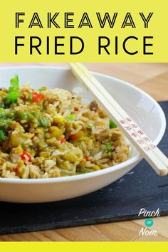 We love Chinese food, and our Fakeaway Fried Rice is an amazing dish whether you're calorie counting or following a diet plan like Weight Watchers. #friedrice #fakeaway