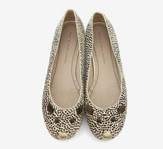 Marc by Marc Jacobs White And Black Ballet Flat