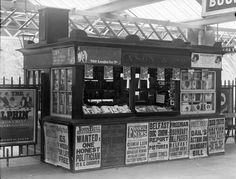 IRELAND - Messrs Eason Dublin, Book stall at Railway Station. Eason's is still going today, both at Heuston station in Dublin and various branches countrywide. The Poole Photographic Collection