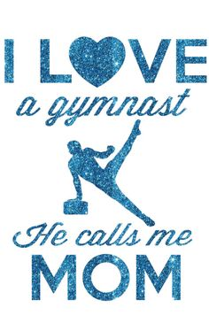 I Love a Gymnast Boy Transfer by GirlsLoveGlitter on Etsy