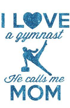 I Love a Gymnast Boy Transfer by GirlsLoveGlitter on Etsy