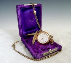 elgin ladies pocket watch pendant with chain c