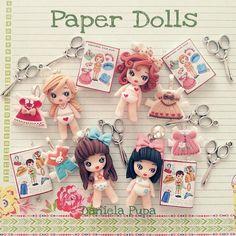 Risultati immagini per polymer clay chibi dolls Cute Polymer Clay, Polymer Clay Dolls, Polymer Clay Projects, Paper Doll Craft, Doll Crafts, Paper Dolls, Paper Clay, Clay Art, Chibi