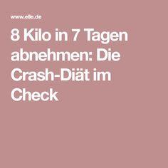 8 Kilo in 7 Tagen abnehmen: Die Crash-Diät im Check