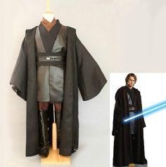 Star Wars Anakin Skywalker Adult Costume Black Version , Size XL (Fit for height 176cm-186cm / 5'9-6'2 )