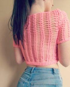 Sweet Summer crochet crop top - free pattern · The Magic Loop Crochet Summer Tops, Crochet Crop Top, Crochet Blouse, Crochet Bikini, Crochet Tops, Crochet Vests, Crochet Baby, Crop Top Pattern, Macrame Dress