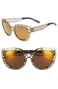 Tory Burch 52mm Mirror Lens Sunglasses available at #Nordstrom