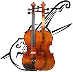 Violins with Metallic Gold Trim on Black Violins Bow tie Self-tie Bow tie