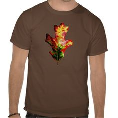 Colorful Autumn Oak Leaf Tees