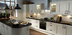 Wren Kitchens: Shaker Cream Matt - Simple yet elegant, the stunning design of this kitchen is versatile, giving you the option to style it up in a truly traditional or more contemporary theme.