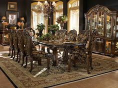 Max Furniture 7pc Napoleon Dining Room Set   Experience the grand elegance of Italian old world charm with this wonderful Marlow Collection. Presenting generously scaled proportions and handcrafted ornate details, Marlow is expressly designed with grandeur in mind and perfectly suited for larger, spacious homes    http://www.maxfurniture.com/detail-Dining-Dining-Sets-7pc-Napoleon-Dining-Room-Set-186-31455.aspx