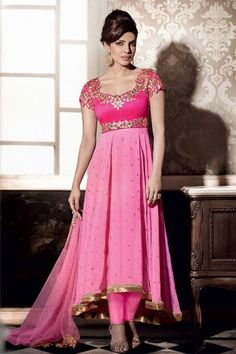 PINK EMBROIDERED GEORGETTE FLORAL ANARKALI SUIT  #Prachi #Desai Salwar Suit Collection Online #celebrity #bollywood #shopping #clothing  #Salwar Suit #Buy Salwar Suits Online #Dresses Online Shopping #Salwar Suits Online Shopping get more details, visit: http://www.thankar.com Contact Us: +91-9978289000 Email: support@thankar.com #Priyanka #Chopra