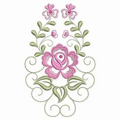 Dainty Roses 2 - 2 Sizes!   What's New   Machine Embroidery Designs   SWAKembroidery.com Ace Points Embroidery