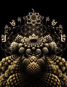 Sacred Geometry - Romanesca Fractal Fruit Men's T-shirt Flower of Life #sacredgeometry