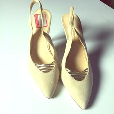 """Audrey Brooke Heels Gorgeous tan pumps. AUDREY BROOKE - great condition, size 8. Small Heel, measured at 3"""" ankle supportive strap. Very comfortable. Classy/ Casual look.    Please don't ask me to model, selling these for my Mother in law. Thanks! Audrey Brooke Shoes Heels"""
