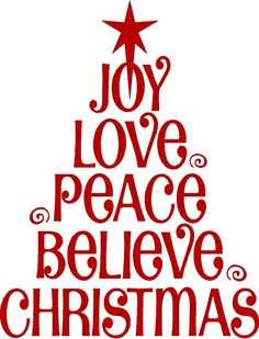 "chasingrainbowsforever: "" Joy, love, peace, believe ~ Christmas! """