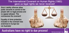 Australians have no rights to due process - Liberty Campaign Let Them Talk, Let It Be, The Covenant, Human Rights, Economics, Equality, Liberty, Campaign