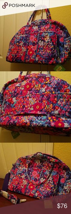 Vera Bradlley Weekender and Carry-On NWT Nice print bag. Very spacious. Great for traveling. Vera Bradley Bags