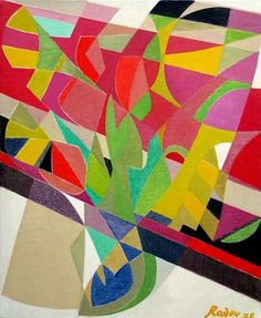 Othello Radou (1910-2006)  Tulipes et Jonquilles I  Oil on canvas  Signed & Dated 1972  60 x 50 cm