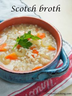 Scotch broth - Scotland's equivalent of chicken noodle soup, it's easy to make, warm and comforting. Perfect for fighting winter colds!