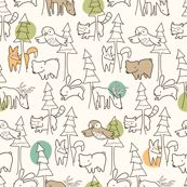 A Walk in the Woods by auki, click to purchase fabric