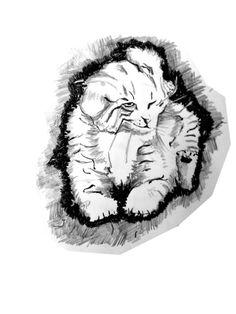 cat drawing by @viktoriansk