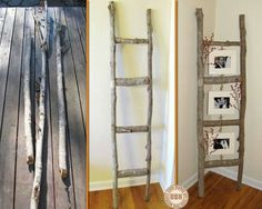 Love. Who can't find tree limbs! Picture frame holder