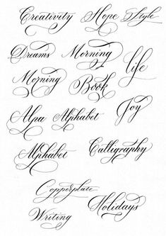 words in cursive calligraphy & words in cursive & words in cursive tattoos & words in cursive calligraphy & words in cursive writing Calligraphy Fonts Alphabet, Tattoo Fonts Alphabet, Cursive Tattoos, Flourish Calligraphy, Cursive Alphabet, Copperplate Calligraphy, How To Write Calligraphy, Penmanship, Calligraphy Writing