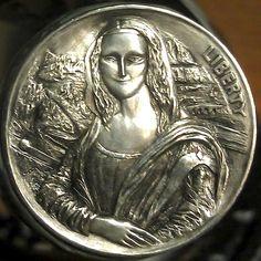 ALEX UZVIN HOBO NICKEL - MONA - NO DATE BUFFALO NICKEL Pewter Art, Hobo Nickel, Coin Art, Antique Coins, Rare Coins, Coin Collecting, Silver Coins, Art Forms, Artsy Fartsy