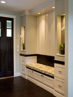 Elegant Foyer w/ cabinetry for storage. http://www.hgtv.com/designers-portfolio/room/mediterranean/entryways/5500/index.html#/id-4029/room-entryways?soc=pinterest
