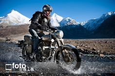 Nothing as captivating as the Himalayas on a Royal Enfield