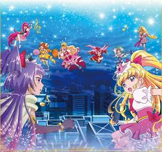 Cure Magical,Cure Miracle,Cure Lovely,Cure Twinkle,Cure Flora,Cure Scarlet,Cure Mermaid & Cure Heart
