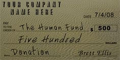 Customizable Oversized Donation Check : Front