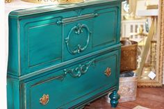 Our New Worn Teal Color now at The Shabby Cottage Home.