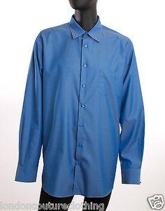 NORDSTORM COLLAR POCKET LONG SLEEVE  BLUE TRADITIONAL FIT DRESS SHIRT SZ XL TALL