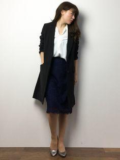 ZOZOTOWN|Y.Iさんのスカート「リッチレースタイトスカート 716512(Andemiu|アンデミュウ)」を使ったコーディネート