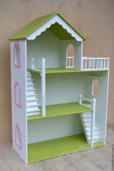 Wooden Dollhouse, Diy Dollhouse, Dollhouse Furniture, Barbie Room, Barbie House, Sticks Furniture, Diy Furniture, Baby Doll House, Doll House Plans