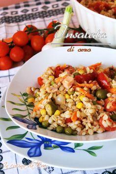 Insalata di orzo Veg Recipes, Light Recipes, Salad Recipes, Healthy Recipes, Low Carb Brasil, Easy Cooking, Diy Food, Food Inspiration, Food To Make
