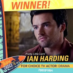 We  you, Ian! Congratulations on winning #TeenChoice TV Actor: Drama! You make us SO proud!   Pretty Little Liars