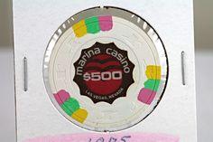 1975 MARINA CASINO $500 VINTAGE LAS VEGAS GAMING CHIP / 2nd ISSUE / R-4