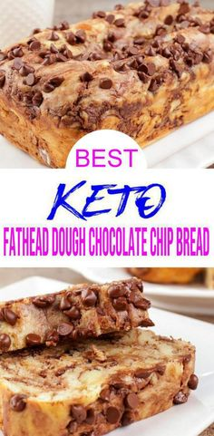 - Keto fathead dough chocolate chip bread that is super delicious. Make this easy keto recipe for the BEST low carb fathead chocolate chip loaf bread. Quick and simple low carb bread recipe with this…. Lowest Carb Bread Recipe, Low Carb Bread, Keto Bread, Low Carb Keto, Chocolate Chip Bread, Low Carb Chocolate, Chocolate Recipes, Dessert Bread, Breakfast Dessert