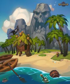 Pearl islands, Alexander Bocharov on ArtStation at https://www.artstation.com/artwork/pearl-islands
