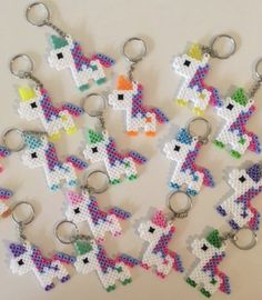 Ähnliche Artikel wie Unicorn Keychain Party Packs auf Etsy The Effective Pictures We Offer You About Beading brazalet A quality picture can tell you many things. Diy Perler Beads, Perler Bead Art, Hama Beads Patterns, Beading Patterns, Unicorn Birthday Parties, Unicorn Party, Birthday Favors, Party Favors, Kids Crafts