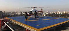 Sao Pablo empresarios utilizan helicopteros