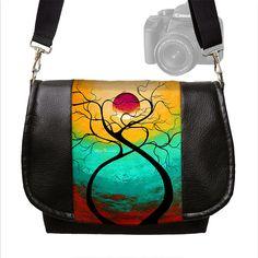 MadArt  Dslr Camera Bag Purse Vegan Leather by janinekingdesigns