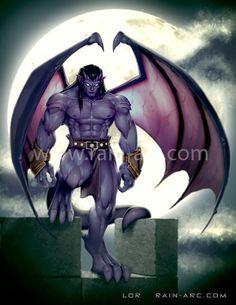 Goliath #Gargoyles https://www.etsy.com/listing/170730833/goliath-from-disney-gargoyles-12x18-art
