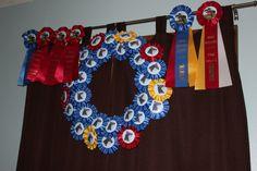 Repurposing horse show ribbons